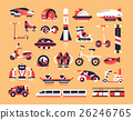 Transport - flat design icons set 26246765