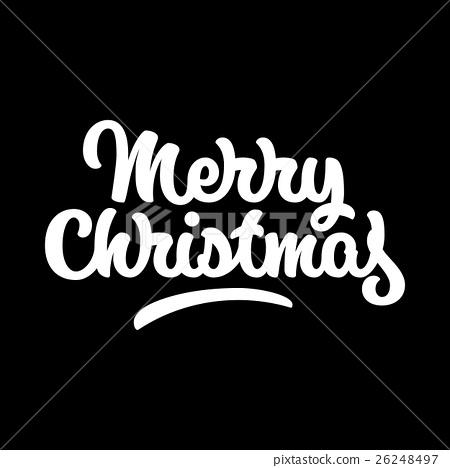 Merry Christmas Lettering Badge 26248497