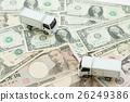 지폐와 트럭 26249386