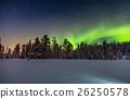 Real Northern lights or Aurora borealis 26250578