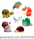 Group of cute isolated animals 26252456
