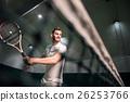 Positive man playing tennis 26253766