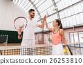 网球 网球场 女性 26253810