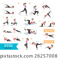 Woman workout fitness, aerobic and exercises.  26257008