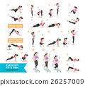 Woman workout fitness, aerobic and exercises.  26257009