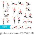 Woman workout fitness, aerobic and exercises. 26257010