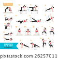 Woman workout fitness, aerobic and exercises.  26257011