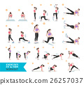 Woman workout fitness, aerobic and exercises. 26257037