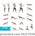 Woman workout fitness, aerobic and exercises.  26257038
