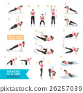 Woman workout fitness, aerobic and exercises. 26257039