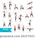 Woman workout fitness, aerobic and exercises. 26257041