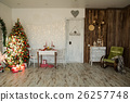 Interior of room with Christmas spruce 26257748