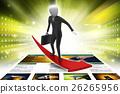 Business man standing on a successive arrow 26265956