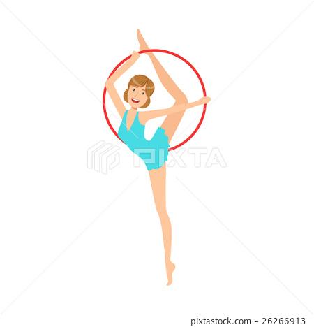 Professional Rhythmic Gymnastics Sportswoman In 26266913