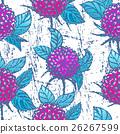 Seamless pattern with chrysanthemums 26267599