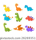 dinosaur, vector, collection 26269351