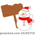 vector, vectors, snowman 26269759