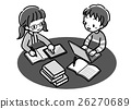 Digital_Search learning _ two people _ monochrome 26270689