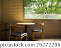 窗口 木桌 窗 26272208