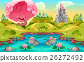 Fantasy landscape with castle in the countryside 26272492