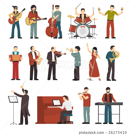 Musicians Color Icons Set 26273410