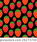 Simple Strawberry Seamless Pattern Background 26273740