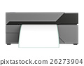 Barcode printer, front view 26273904