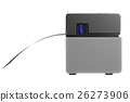 Barcode printer, side view 26273906