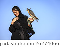 Woman with Peregrine Falcon 26274066