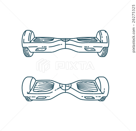 Vector Hover boards in linear style 26275325