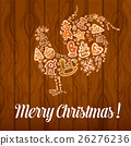 สุขสันต์วันคริสต์มาส,ไก่ตัวผู้,เวกเตอร์ 26276236