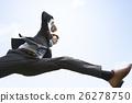 점프하는 사업가 26278750