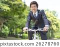 자전거를 타는 사업가 26278760