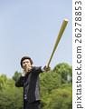 与棒球棒的一个商人 26278853