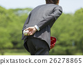 Hand of businessman with baseball ball 26278865