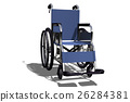 wheelchair, 3d, three dimensional 26284381