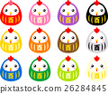 vector, vectors, buddhist doll 26284845