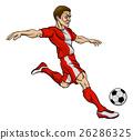Football Soccer Player Cartoon Character 26286325