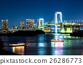 nightscape of the bay of  Tokyo, Japan 26286773