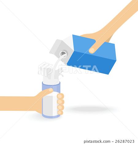Milk creating splash 26287023