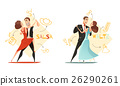 Dancing Pairs 2 Retro Cartoon Templates  26290261