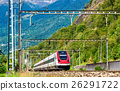 Tilting high-speed train on the Gotthard railway 26291722