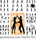 mix people silhouette vector 26291781