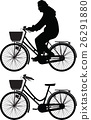 bicyclist silhouette vector 26291880