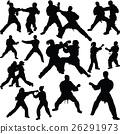 Karate silhouette vector 26291973