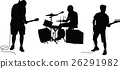 music band silhouette vector 26291982