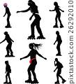 rollerskating silhouette vector 26292010