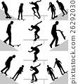 skateboarder silhouette vector 26292030