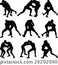 wrestling silhouette vector 26292090
