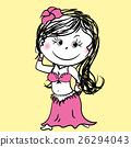 Cartoon Belly dance woman 26294043